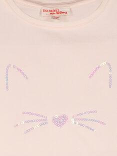 Tee-shirt manches courtes bébé fille FIJOTI3 / 19SG0933TMC307