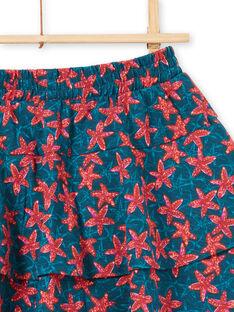 Jupe imprimé d'étoile de mer avec volants et short intégré LABONJUP1 / 21S901W2JUP716