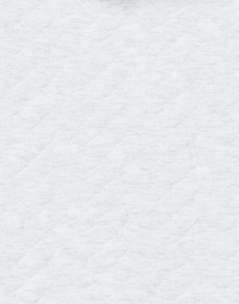 Combinaison gris chiné avec poche tête de léopard 3D naissance mixte LOU1COM / 21SF05H1CBLJ920