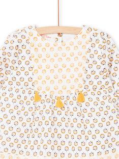 Blouse blanche et jaune imprimé fleuri LAPOECHEM / 21S901Y1CHE001