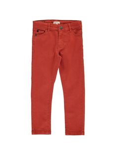 Pantalon slim orange garçon DOJOPAN1 / 18W90231D2B408
