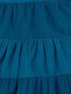 Robe salopette en velours avec poche en cœur KAECOROB2 / 20W901H1ROBC217