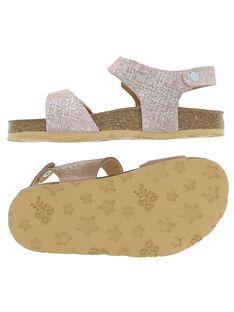 Sandale en cuir fille CFNUMETAL / 18SK35WQD0E030