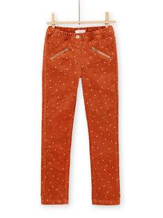 Pantalon en velours avec imprimé triangle à paillettes KAGOPANT / 20W901L1PAN420