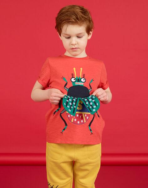 Tee Shirt Manches Courtes Orange LOROUTI / 21S902K1TMCE414