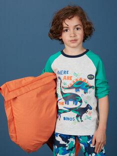 Pyjama enfant garçon imprimé dinosaures et camouflage KEGOPYJCAM / 20WH12I3PYJJ920
