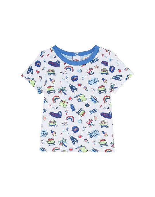 Tee Shirt Manches Courtes Blanc JUQUATI3 / 20SG10R3TMC000