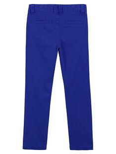 Pantalon chino Bleu Cobalt GOJOPACHI3 / 19W90247D2B720