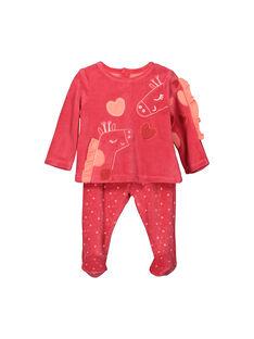 0ba9105eb7761 Pyjama en velours bébé fille FEFIPYJGIR / 19SH1341PYJ308