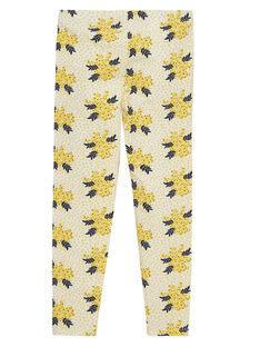 legging jaune avec motif  JYASOLEG2 / 20SI0181CAL001