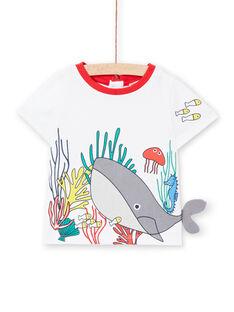 Tee Shirt Manches Courtes Ecru LUVITI1 / 21SG10U3TMC001