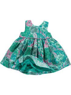 Robe sans manches bébé fille CIDOUROB2 / 18SG09J2ROB099