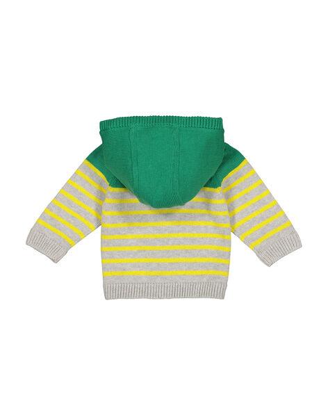 Gilet zippé à capuche bébé garçon FUCAGIL / 19SG10D1GIL099