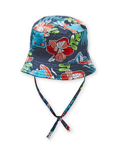 Chapeau bleu marine à imprimé fleuri bébé garçon LYUBONCHA / 21SI10W1CHA717