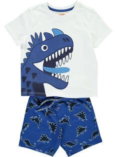 Ensemble tee-shirt et short garçon FOPLAENS4 / 19S902P4ENS000