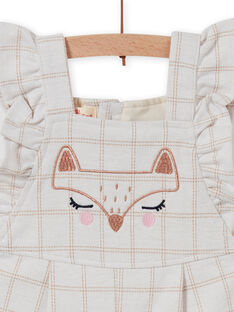 Combinaison milano à carreaux motif renard bébé fille MISAUCOMB / 21WG09P1CBLA010