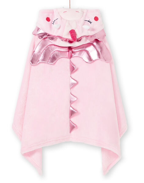 Cape enfant fille rose dragon licorne à poches KEFACAPDRAG / 20WH11C1CPED313
