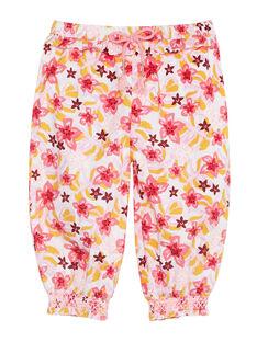 Pantalon imprimé fleuri bébé fille JIDUPAN / 20SG09O1PAN001