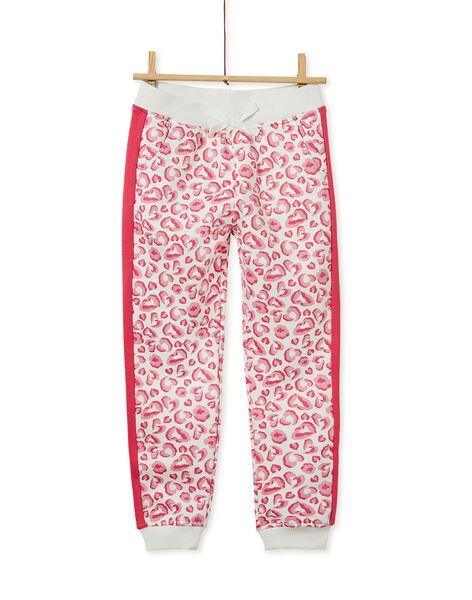 Pantalon imprimé léopard et bande contrastante sur le côté KAJOBAJOG3 / 20W90152D2A006