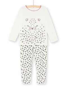 Pyjama enfant fille motif panthère KEFAPYJTET / 20WH11C3PYJ001