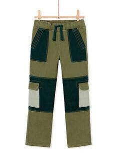 Pantalon cargo style patchwork garcon KOBOPAN / 20W902N1PANG607