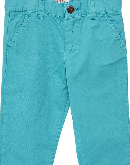 Pantalon chino garçon turquoise JOJOPACHI3 / 20S90245D2BG622
