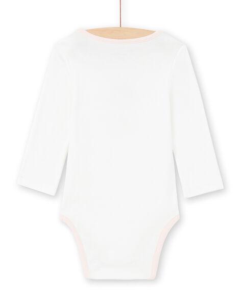 Body écru et rose bébé fille MEFIBODJAR / 21WH13B3BDL001