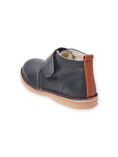 Boots bleu marine en cuir bébé garçon MOBOOTVITAL / 21XK3672D0D070