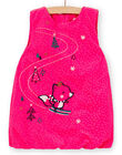 Robe rose en velours bébé fille KILUROB3 / 20WG09P1ROBD312