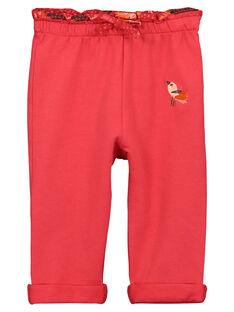 Pantalon en molleton bébé fille FIBABAJOG / 19SG0961JGB308