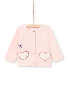 Gilet 2 en 1 rose bébé fille LICANCAR / 21SG09M2CARD326