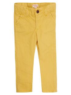 Pantalon chino garçon jaune JOJOPACHI4 / 20S90243D2BB116