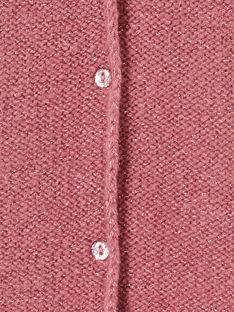 Cardigan manches longues couleur lilas avec lurex  KAJOCAR7 / 20W90143D3CH700