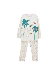 Pyjama en velours fille FEFAPYJCAT / 19SH1141PYJ001