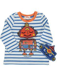 Tee-shirt à masques bébé garçon DUBLETEE1 / 18WG1091TML099