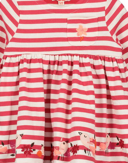 Robe rayée bébé fille FIBAROB3 / 19SG0963ROB308