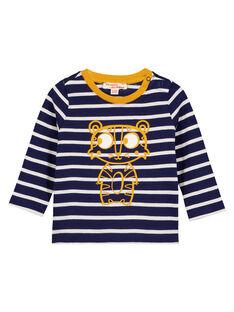 Tee Shirt Manches Longues Bleu marine GUJOTIRAY4 / 19WG1042TML070
