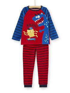 Pyjama PHOSPHORESCENT enfant garçon motif monstre KEGOPYJMON / 20WH12C3PYJ050