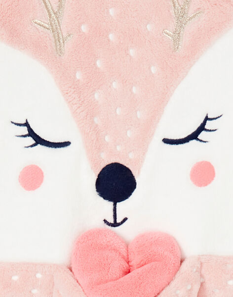 Pyjama enfant fille motif biche KEFAPYJDOE / 20WH11C2PYJD329