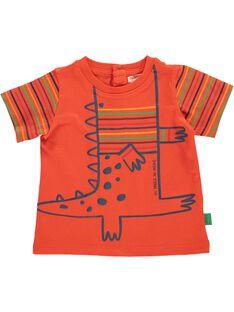 Tee Shirt Manches Courtes Orange CUGAUTI1 / 18SG10L1TMCE400