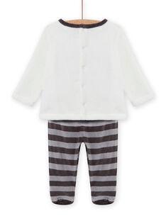 Ensemble pyjama en soft boa motif raton-laveur bébé garçon MEGAPYJEUR / 21WH1491PYJ001