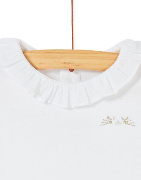 Brassière blanche à col bébé fille KIJOBRA1 / 20WG0933BRA000