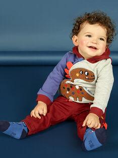 Gilet à capuche tricolore à motif dinosaure bébé garçon MUPAGIL / 21WG10H1GIL943