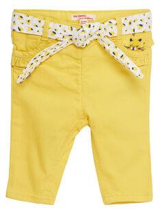 Pantalon droit en matière stretch bébé fille JITROPAN / 20SG09F1PAN102