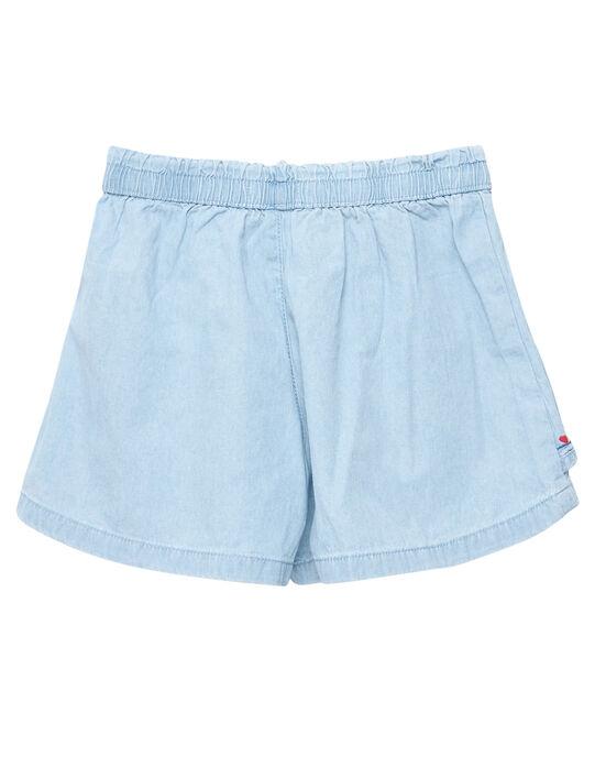 Jupe culotte en denim light  JACEASHORT / 20S901N2SHO721