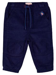 Pantalon velours marine bébé garçon GUJOPAN3 / 19WG1034PAN070