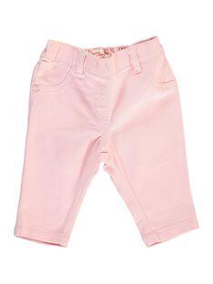 Pantalon en twill bébé fille CIJOPAN4 / 18SG09R5PAN321