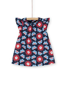 Robe bleu à fleur bébé fille KISAROB3 / 20WG09O2ROB070