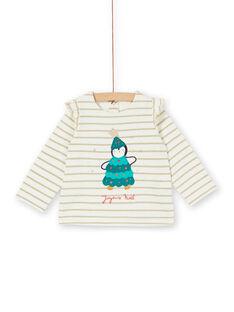 Tee-shirt manches longues rayures lurex bébé fille KINOTEE / 20WG09Q1TML001