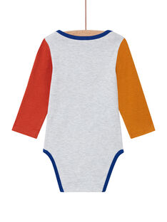 Body manches longues multicolore à motif toucan bébé garçon MEGABODTOU / 21WH14C3BDLJ920